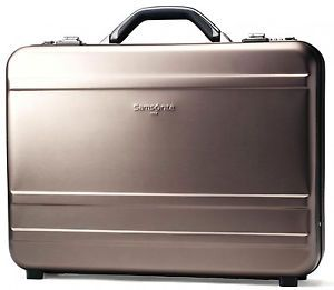 Samsonite Gun Metal Aluminum Attache Business Case Hardsided Laptop Briefcase