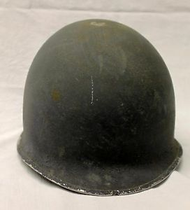 Vintage WWII US Army Helmet Fixed Bale