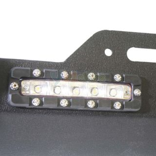 Jeep Wrangler JK Front New Bumper 07 12 Rock Crawler Built in LED Light Black
