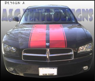 Strobe Style Hood Stripe Kits Vinyl Decal Sticker Fits 2006 2010 Charger