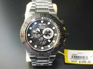 Invicta Men's 1527 Subaqua Sport Chronograph Black Dial Stainless Steel Watch