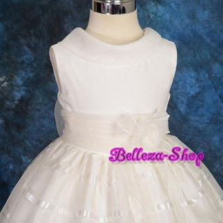 Ivory Wedding Flower Infant Girl Pageant Party Formal Dress Size 12M 18M FG107