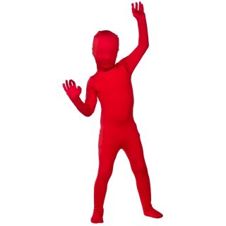 Child Lycra Bodysuit Skinz Gimp Body Suit Fancy Dress Costume Kidz Skin Outfit