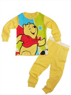 "Baby Toddler Girls Clothes Kids Boys Sleepwear ""Winnie The Pooh"" Pajamas Set 7T"