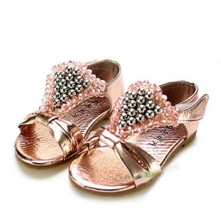 New PU Leather Toddler Baby Girls Sandals Rose Shoes Size:US 5 8 for 9 36 Months
