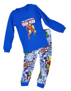 "Baby Toddler Clothing Kids Boys Sleepwear ""Iron Man"" Pajama Set 2 7T"