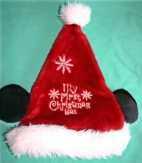 Disney My First Mickey Santa Christmas Hat Size Infant Mickey Mouse Baby Hat