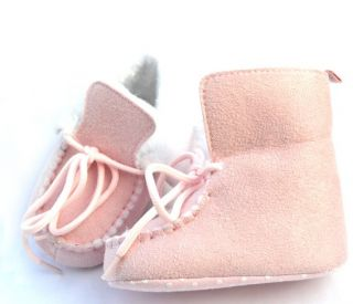 Pink Fur High Top Tennis Infant Toddler Baby Girl Shoes Booties Size 19 21 23