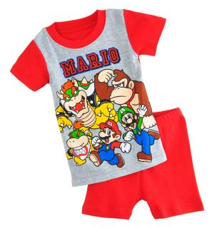 Baby Toddler Kids' Boys' Short Sleeve Sleepwear Cute Clothing Pajama Set 2 7Y