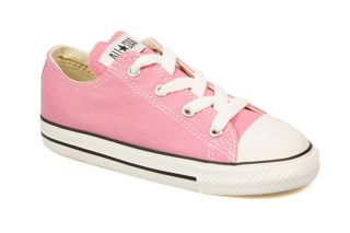 Converse Toddler Kids Pink White Canvas Trainers Sneakers Shoes Womens Size 2 10