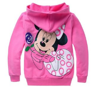 Minnie Mouse Kids Gift Pretty Toddlers Baby Girls Zipper Hoodies Coat 2 8years