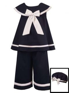 RARE Editions Navy Nautical Sailor Capri Set 24 Months