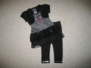"New ""Sparkling Bow"" Capri Pants Girls Clothes 2T Spring Summer Boutique Toddler"