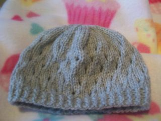 Newborn Girls Boys Eyelet Pattern Hand Knitted Baby Beanie Hat Various Colours
