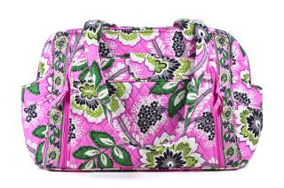 Vera Bradley Priscilla Pink Make A Change Baby Diaper Bag Carrier Tote New