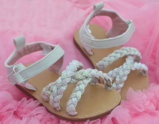 White Butterfly Kids Toddler Baby Girl Shoes Sandals 9 18 Months