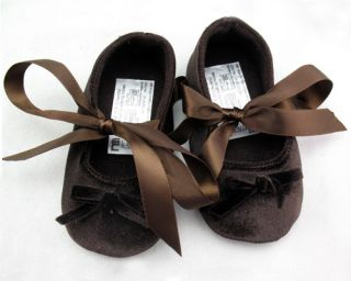 New Toddler Baby Girls Velvet Ballet Slippers Infant Soft Sole Crib Shoes