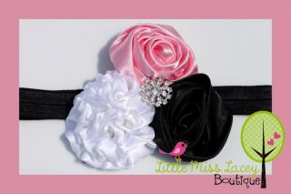 Baby Girl Toddler Teen Rose Headband Fascinator Photo Prop Little Miss Lacey ©