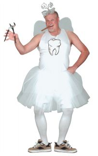 Tooth Fairy Adult Costume Funny Comical Career Theme Party Halloween Tutu Cute