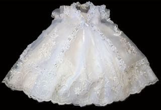 New Toddler Girls 2 Piece White Christening Baptism Holiday Dress 24 Months