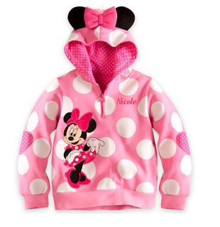 Disney Baby Boys Girls Minnie Mouse Coat Outwear Tops Clothing Hooded Clothes