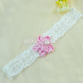 Infant Girl Baby Child Lace Headband Head Hair Band Flower Christening Hoop SA88