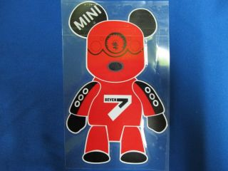 Mini Cooper s R50 R52 R53 R55 R56 R57 R60 Racing Cute Bear Window Decal Sticker