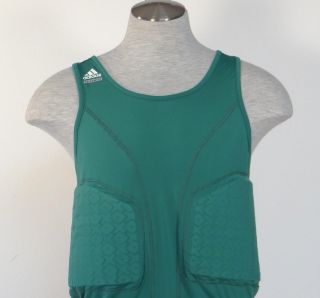 Adidas TECHFIT ClimaCool Green Padded Basketball Compression Tank Mens
