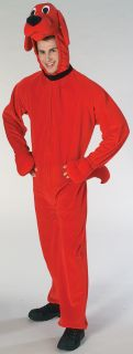 Clifford Big Red Dog Adult Mens Costume Color Animal Farm Theme Halloween Party