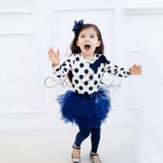 Girls Kids Long Sleeve Top Leggings Tutu Skirt 1 5Y 2pcs Set Outfit Clothing