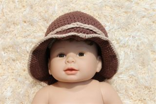 Handmade Knit Crochet White Pink Cowboy Baby Hats Boots Nappy Newborn Photo Prop