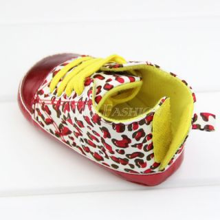 Infant Baby Kids Rose Flower Leopard Anti Slip Shoes for Girls Toddler 11 13cm