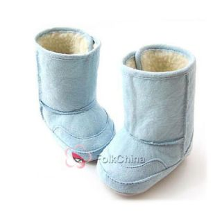 Baby Toddler Shoes Fur Lining Boy Girl Warm Winter Snow Boots 6 24Month KDS So W