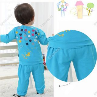Baby Kid Toddler Boy Girl T Shirt Long Top Pants Outfit Outwear Suit Set Clothes