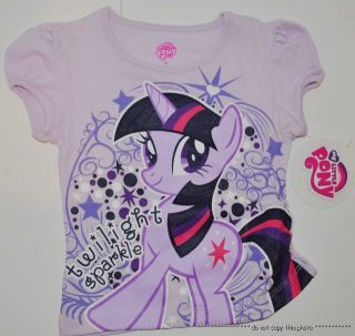 New Girls My Little Pony Twilight Sparkle Shirt Size 2T 3T 4T 5T T Shirt Top