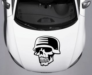 Military Soldier Skull Car Truck Hood Vinyl Decal Free SHIP Free Squeegee 18