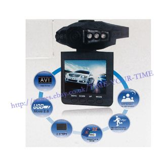 "2 5""Color TFT LCD 270° 6 IR LED HD Car DVR Camera Audio Video Recorder Gift"