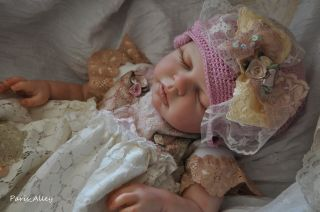 Sweet Kiss French Lace Dress Hat 4 Reborn Baby Doll