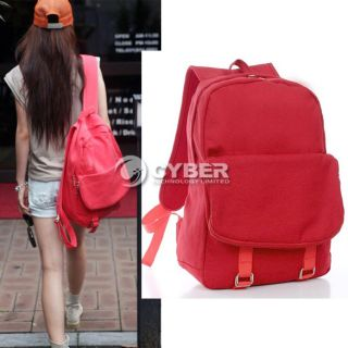 Fashion Korea Canvas Candy Color Women Lady Girl Shoulder Bag Backpack New