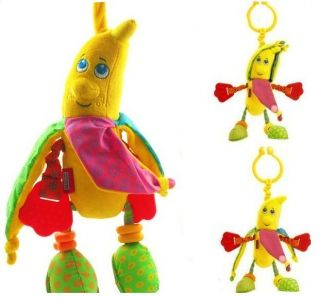 Infant Baby Kid Tiny Love Banana Multi Function Rattle Plush Doll Attach Toy