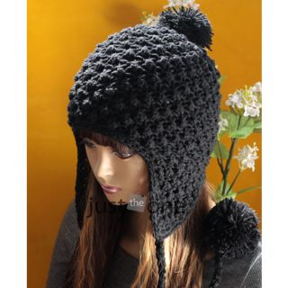 New Cute Sweet Girl Ladies Winter Ball Earflap Hat Women Warm Ski Cap Beanie