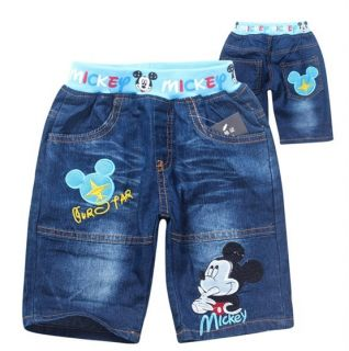 New Kids Toddlers Boys Girls Mickey Mouse T Shirt Jean Shorts Suits 2 8years