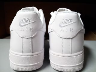 315122 111 Mens Nike Air Force 1 Low Classic White Uptown Basketball Sneakers