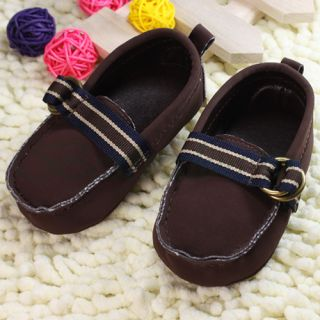 Baby Boys Toddler Boat Shoes Loafers Brown Black Sz 2 3