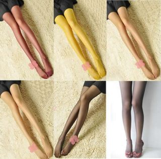 Fashion Women Sexy Thin Sheer Pantyhose Stockings Tights Leggings Candy Colors