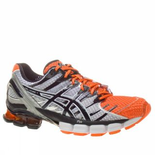 Asics Gel Kinsei 4 Neon US Size Orange Trainers Shoes Mens Running New