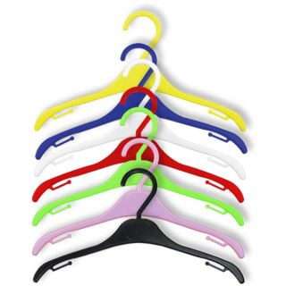 Childrens Plastic Coat Hangers Child Baby Toddler Kids Clothes Metal Hang Hook