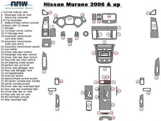 Nissan Murano s SE SL Interior Wood Carbon Fiber Dash Trim Kit 2006 06 2007 2008