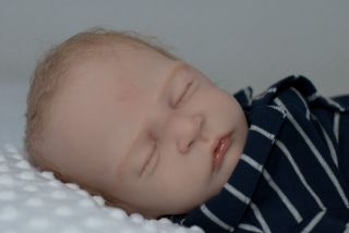 Beautiful Reborn Newborn Baby Boy BB Sweet Pea Light Brown Hair 23inch Baby
