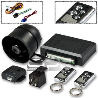 CAR/TRUCK 1 WAY SECURITY ALARM KEYLESS ENTRY+REMOTE CONTROL+SIREN
